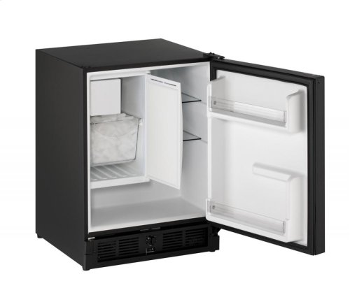 "SAVE BIG!!! - PRACTICALLY NEW BUT SERVICED AND OPERATING LIKE NEW - 90 DAY FULL WARRANTY: U-LINE FRIG/FREEZER - 21"" ADA Combo ® Model Black Solid Field Reversible"