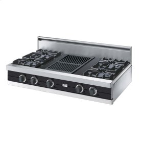 "Graphite Gray 42"" Open Burner Rangetop - VGRT (42"" wide, four burners 12"" wide char-grill)"