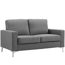 Allure Upholstered Sofa in Gray