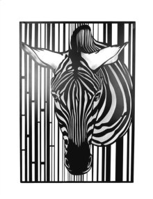 Black Metal Zebra Wall Decor,wb