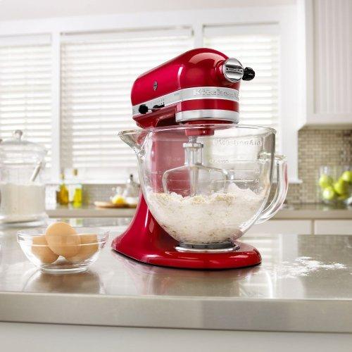 Artisan® Design Series 5 Quart Tilt-Head Stand Mixer with Glass Bowl - Candy Apple Red
