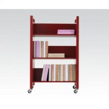 Red Bookshelf Cart