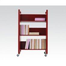 Red Bookshelf Cart
