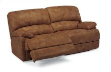 Dylan Leather Two-Cushion Power Reclining Sofa with Chaise Footrests