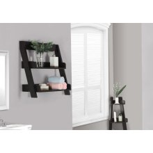 "BATHROOM ACCENT - 24""H / CAPPUCCINO WALL MOUNT SHELF"
