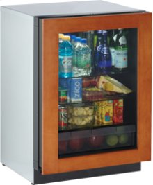 "Overlay Frame Right-hand Modular 3000 Series / 24"" Glass Door Refrigerator / Digitally controlled single-zone convection cooling system"