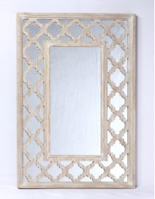 Accent Mirror-weathered Wood Finish W/mirror Accent