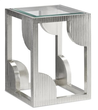 Morneau Silver Side Table - 24h x 18w x 18d