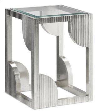 Morneau Silver Side Table - 24h x 18w x 18d