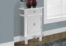 """ACCENT TABLE - 29""""H / SATIN WHITE WITH MIRROR"""