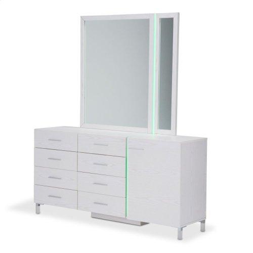 Dresser W/mirror Frost