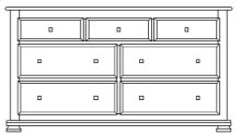 "Havenridge 7 Drawer 66"" Dresser"