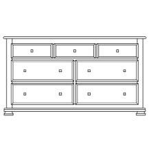 "Havenridge 7 Drawer 66"" Dresser"