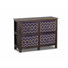 Storage Console With 4 Baskets