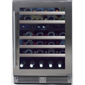 Xo Ventilation24in Wine Cellar 2 Zone SS Glass RH