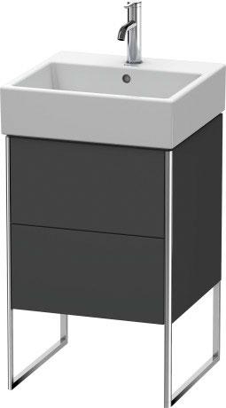 Vanity Unit Floorstanding, Graphite Matt (decor)