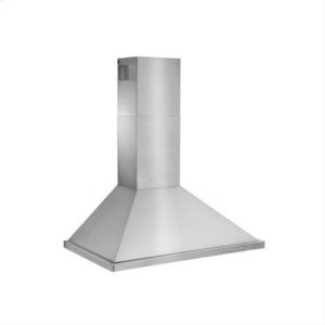 "Best36"" Brushed Stainless Steel Wall Mount Chimney Hood with Internal 600 CFM Blower"
