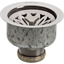 """Elkay Drain Fitting 3-1/2"""" Stainless Steel Body with, Strainer Basket Satin Finish"""