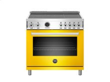 36 inch 5-Induction Zones, Electric Self-Clean oven Yellow