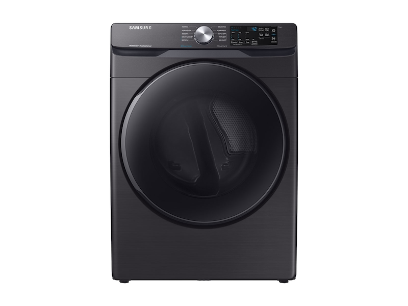 Samsung7.5 Cu. Ft. Electric Dryer With Steam Sanitize+ In Black Stainless Steel