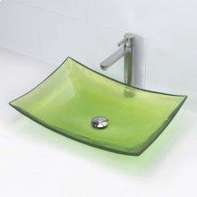 Darya Rectangular Above-counter Bathroom Sink - Absinthe