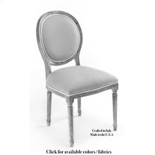 Round Back Side Chair Frame, Leather