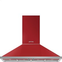 "48"" Portofino, Chimney Hood, Red"