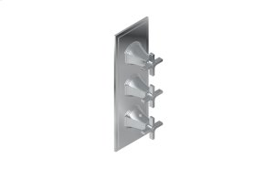 Finezza UNO Thermostatic 3-Hole Trim Plate and Handle