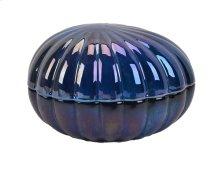 Decorative Ceramic Covered Jar, Blue