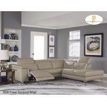 Left side Power Loveseat with USB