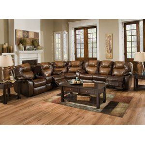 Avalon - Double Reclining Sofa with Drop Down Table and Power
