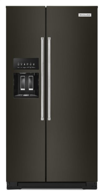 22.6 cu ft. Counter-Depth Side-by-Side Refrigerator with Exterior Ice and Water - Black Stainless