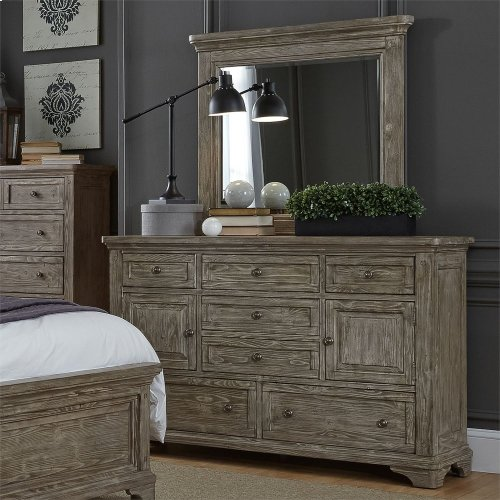 Queen Two Sided Storage Bed, Dresser & Mirror