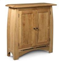 Aspen Short Bookcase, Wood Doors, Aspen Short Bookcase with Inlay, Wood Doors, 2-Adjustable Shelves Product Image