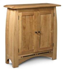 Aspen Short Bookcase, Wood Doors, Aspen Short Bookcase with Inlay, Wood Doors, 2-Adjustable Shelves