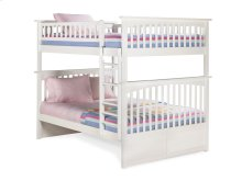 Columbia Bunk Bed Full over Full in White