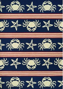 4292/4117 Blue Claws / Navy Area Rugs