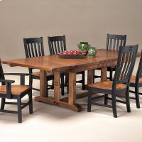 Rustic Mission Curved Slat Arm Chair Product Image