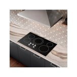 """36"""" Electric Cooktop In Black"""