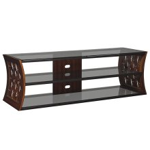 Add modern flair to your living space with this Risa TV stand. This open ar...