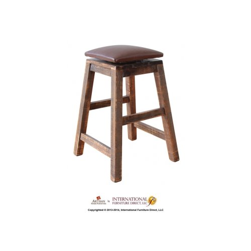 """19"""" Swivel Stool - With bonded leather seat"""