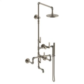 Wall Mounted Exposed Thermostatic Tub/ Shower With Hand Shower Set