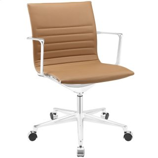 Vi Mid Back Vinyl Office Chair in Tan