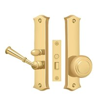 Storm Door Latch, Classic, Mortise Lock - PVD Polished Brass