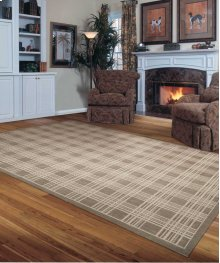 Hollywood Shimmer Ki102 Moc Rectangle Rug 7'9'' X 10'10''