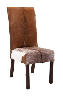 Andros Animal Hide Dining Chair