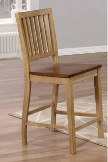 Sunset Trading Brook Slat Back Barstool (Set of 2) - Sunset Trading