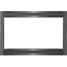 "Black/Stainless 27"" Microwave Trim Kit"