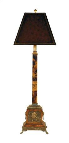 PENSHELL INLAID CANDLESTICK LAMP