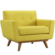 Engage Upholstered Fabric Armchair in Sunny